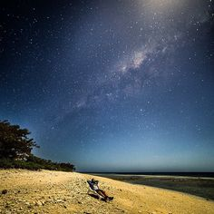 Night beach shot by the Reef @jasoncharleshill - even the stars were more amazing on the reef http://blog.queensland.com/2014/10/03/gallery/ #thisisqueensland