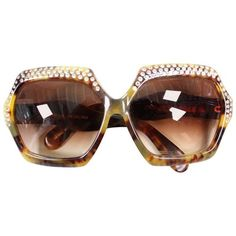 643e83f156f4 Preowned 1970 s Over-sized Faux Tortoise Shell Sunglasses With... ( 325)