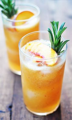 Peach Rosemary Cocktails