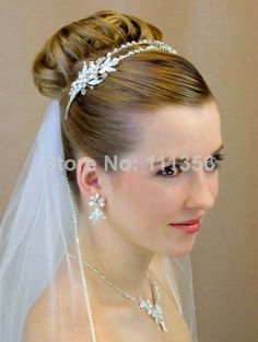 One Layer White Fake Diamond Wedding Bridal veil  $25.99