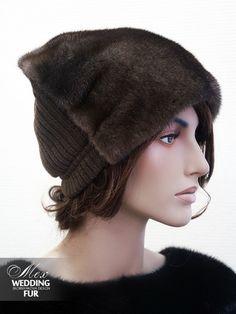 faux fur in front, stock cap in back.