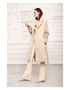 Faux fur stylish winter coat from Beaumont Amsterdam in the AW2020 fashion collection from Irish Handcrafts of Limerick instore and online.