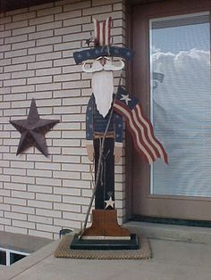 Tall Standing Uncle Sam Primitive Wood Pattern by countryfeelin