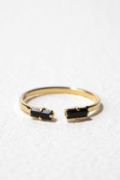 black & gold #ring from urban outfitters
