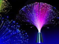 INSFIRE LED Multicolor Changing Fiber Optic Fountain Night light Calming Lamp For Wedding Christmas Party Holiday - List for Home and Garden Fiber Optic Lighting, Novelty Lighting, Glow Party, Disco Party, Led Night Light, Night Lights, Light Led, Color Changing Led, Lampe Led