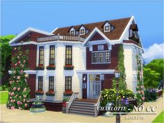 Sims 4 Updates: TSR - Houses and Lots, Residential Lots : Charlotte house by Danuta720, Custom Content Download!