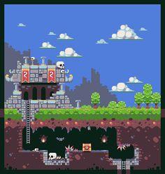 Skulltower Tileset Pixel Artist: Mrmo Tarius Source: pixeljoint.com