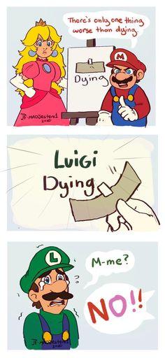 Nintendo-Luigi Dying by on DeviantArt Mario Funny, Mario Memes, Super Smash Bros Memes, Nintendo Super Smash Bros, Mario Fan Art, Super Mario Art, Mario Y Luigi, Mario Bros, Nintendo Game