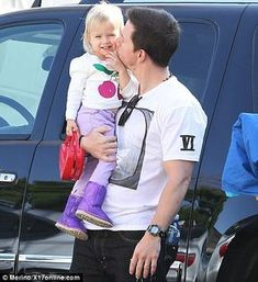 Ohhh...Mark Wahlberg with his baby Grace.