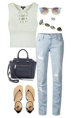 """""""Untitled #3077"""" by meandelstyle ❤ liked on Polyvore featuring Paige Denim, Topshop, Rebecca Minkoff, Miss Selfridge, 2b bebe and Vince Camuto"""