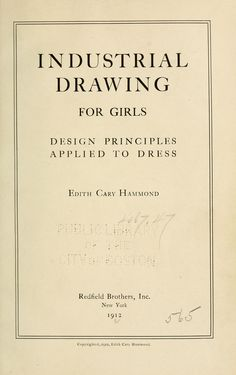Industrial drawing for girls : design principles applied to dress
