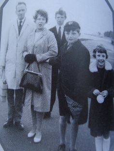Ian Curtis and his family