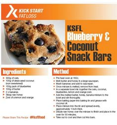 Clean Eating Recipes, Healthy Eating, Healthy Recipes, High Protein Low Carb, Snack Bar, Diet Tips, Blueberry, Coconut, Fat