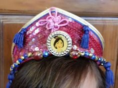MULAN Crown Disney Store RETIERED Tiara Headband with sides comb SEEQUINS #Disney #comb