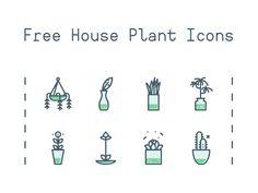 House Plant Icons - EpicPxls freebie