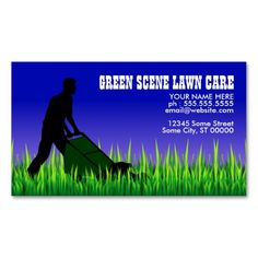 210 best lawn care business cards images on pinterest in 2018 lawn green scene lawn care business cards fbccfo Gallery