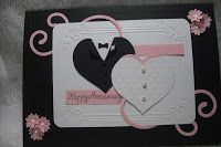 Love is in the air...and I see hearts everywhere. So why not make some Valentines? This is my version of a card from splitcoaststampers....