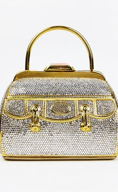 Judith Leiber Crystal  and Gold Bag/Clutch♥•♥•♥