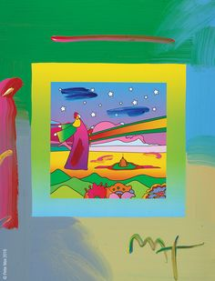 """""""Two Sages with Stars on Blends"""" by Peter Max  - Park West Gallery"""