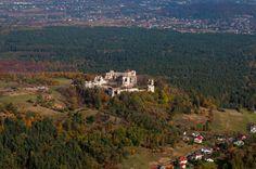 Zamek Tenczyn w Rudnie - Widok z lotu ptaka od południowego-zachodu, fot. ZeroJeden, X 2013