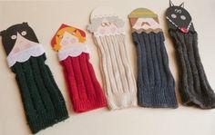 Ideias Giras: Fantoches - meias recicladas