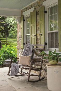 Amish Ash Wood Fanback Loveseat Rocker | Amish Outdoor Porch Rockers 50284