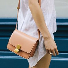 Céline Leather 'Classic Box' Shoulder Bag ($2800)