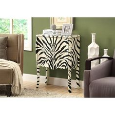 This one of a kind zebra striped Bombay chest will add a splash of originality to any room in your home. Featuring 2 deep storage drawers and thick sturdy legs for stability. Place this unique style accent piece in a hallway, living room, bedroom, or Parks Furniture, Hooker Furniture, Table Furniture, Painted Furniture, Bedroom Furniture, Bombay Chest, Accent Chests And Cabinets, Little Girl Rooms, Transitional Style
