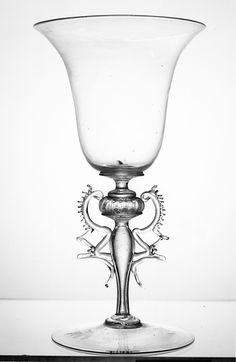 Wineglass, Venice, Italy, glass, 16th century
