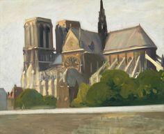 Edward Hopper (American Realist painter, 1882–1967) Notre Dame de Paris, 1907. Oil on canvas, 23 1/2 × 28 3/4 in (59.7 × 73 cm). Whitney Museum of American Art, New York.