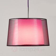Dekorativ textilhänglampa Jasna, E27 LED
