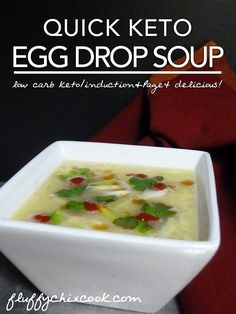 Bone broth makes this low carb keto Quick Keto Egg Drop Soup from Fluffy Chix Cook, simple and nourishing.