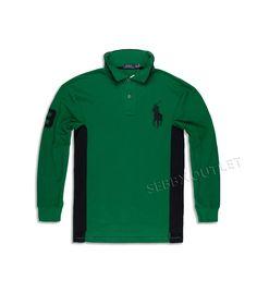 c6386e0787a Polo Ralph Lauren Rugby Polo Shirt Big   Tall Green Long Sleeve