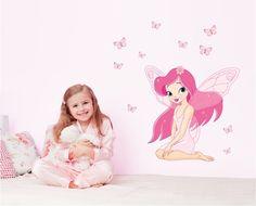 Een roze elfje voor op de meidenkamer! Kijk snel op www.hippemuurstickers.nl
