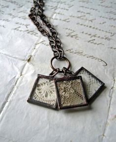 framed lace necklace . source unknown