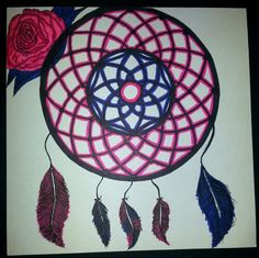 #Dreamcatcher that i drew and colored