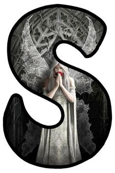 S Alphabet, Gothic Art, Gothic Fashion, Fonts, Typography, Calligraphy, Dark, Decor, Style