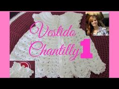 Dress Chantilly for baby, level easy, easy. Crochet Dress Girl, Crochet Skirts, Baby Girl Crochet, Love Crochet, Crochet Clothes, Crochet Shrugs, Knitting Videos, Crochet Videos, Crochet Cable Stitch