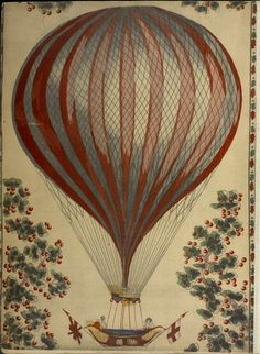 One of hundreds of thousands of free digital items from The New York Public Library. Air Ballon, Hot Air Balloon, How To Draw Balloons, Fantasy Play, Vintage Drawing, Kids Decor, Decor Ideas, New York Public Library, Vintage Ephemera