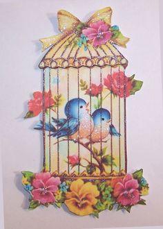 vintage cards | Card: Vintage Bird Cage Card Topper