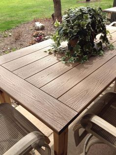 project outdoor table by patrick flynn top made from composite decking material