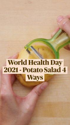 Tasty Vegetarian Recipes, Healthy Salad Recipes, Burfi Recipe, World Health Day, Chaat, Indian Food Recipes, Potato Salad, Potatoes, Cooking Recipes