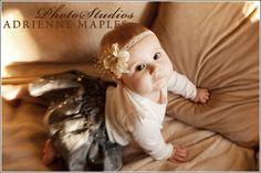 cute baby girl, flower headband