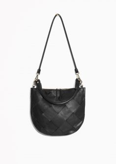 & Other Stories | Braided Leather Round Hobo