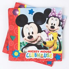 Mop up spills at their birthday party with these Mickey Mouse napkins. Reading 'Mickey Mouse Clubhouse' in multicoloured bubble writing. Only £1.29! Fast UK Delivery