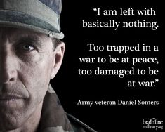 A heart-wrenching suicide note left behind by Daniel Somers, a veteran with severe PTSD and TBI. Rememberand support our soldiers and veterans, Memorial Day, and every day. Ptsd Quotes, Quotable Quotes, Life Quotes, Ptsd Awareness, My Champion, Military Life, Ptsd Military, Military Quotes, Military Pictures