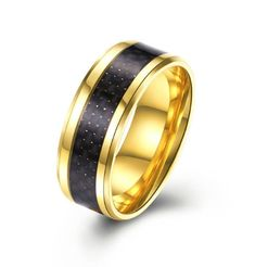 316 L acier inoxydable femme fashion noir stone Bagues Petite Taille 6 7 8