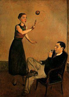 Balthus ~ Balthasar Klossowski (or Kłossowski) de Rola (1908 – 2001), best known as Balthus, was a Polish-French modern artist.