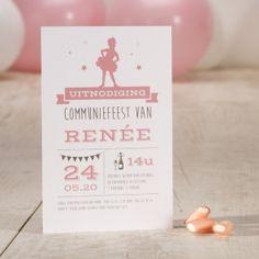 Lief kaartje ballerina | Tadaaz #lentefeest #ballerina #roze