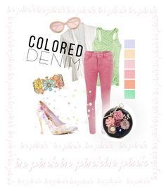 Colored Denim (Sugar Coral) by krgood7 on Polyvore featuring polyvore fashion style Carve Designs ONLY Ted Baker Decree Sunday Somewhere clothing